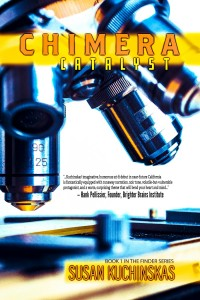 The book cover shows a microscope representing the science of genetic engineering